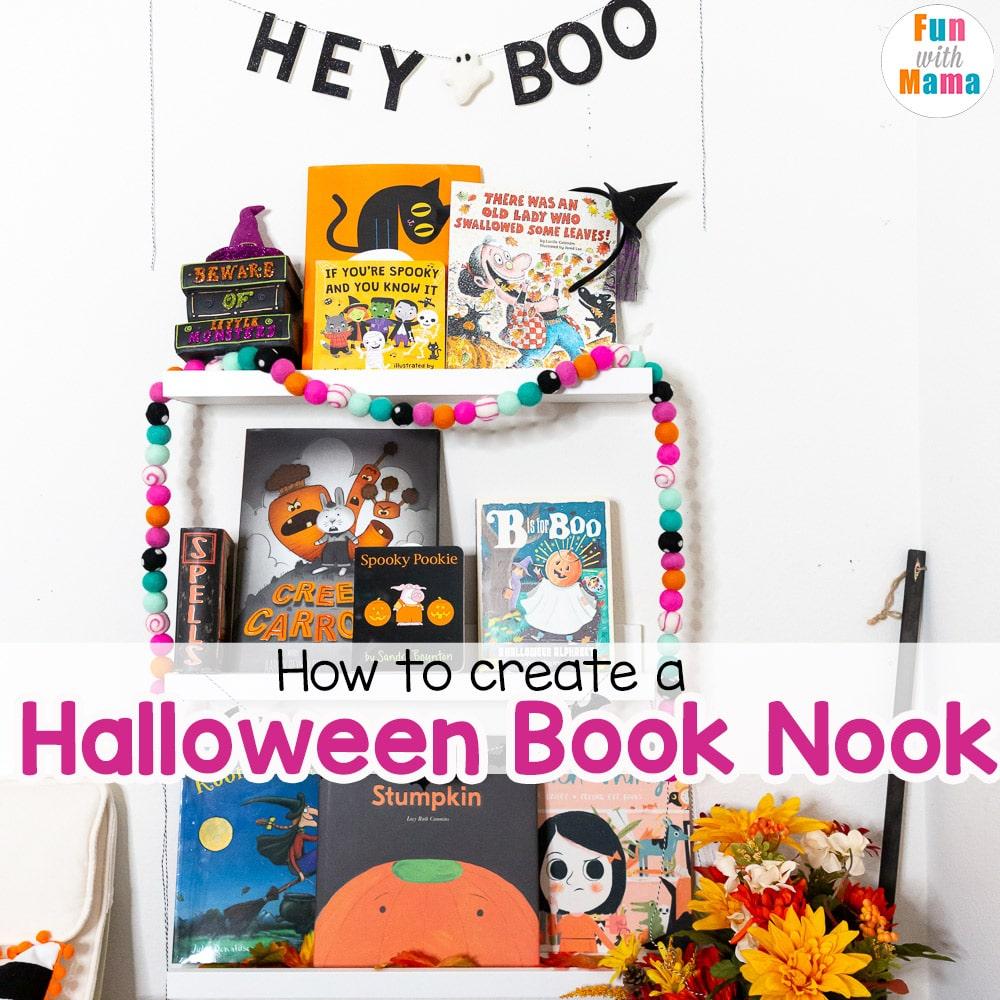 halloween book nook for kids