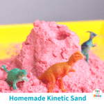 DIY Kinetic Sand Recipe (easy and kid-safe!)