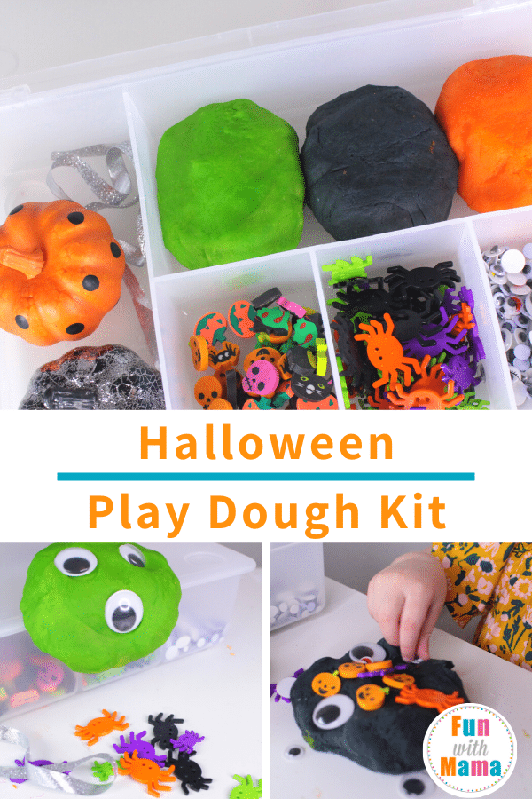 DIY Halloween Playdough Kit and Halloween Sensory Bin