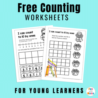 free fall counting worksheets