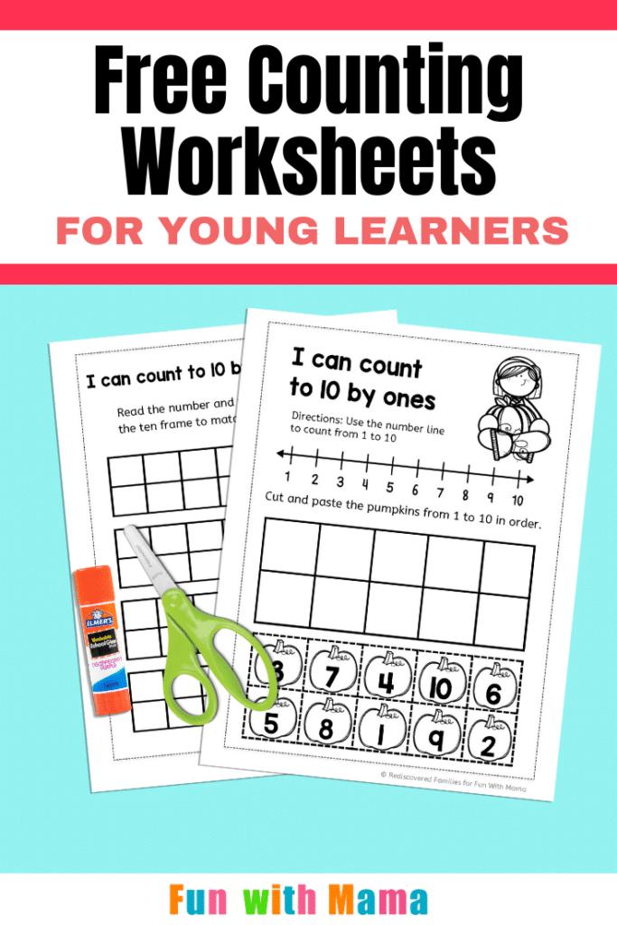 Fall counting worksheets pin