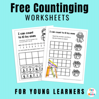 counting worksheets square