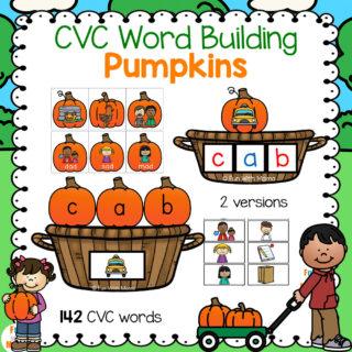 CVC Pumpkins - CVC Worksheets for Word Building