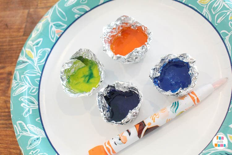 Melted Crayon Art - Painting Kids Craft