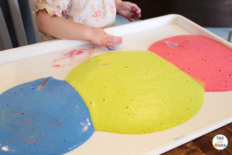DIY Sensory Foam Play Recipe