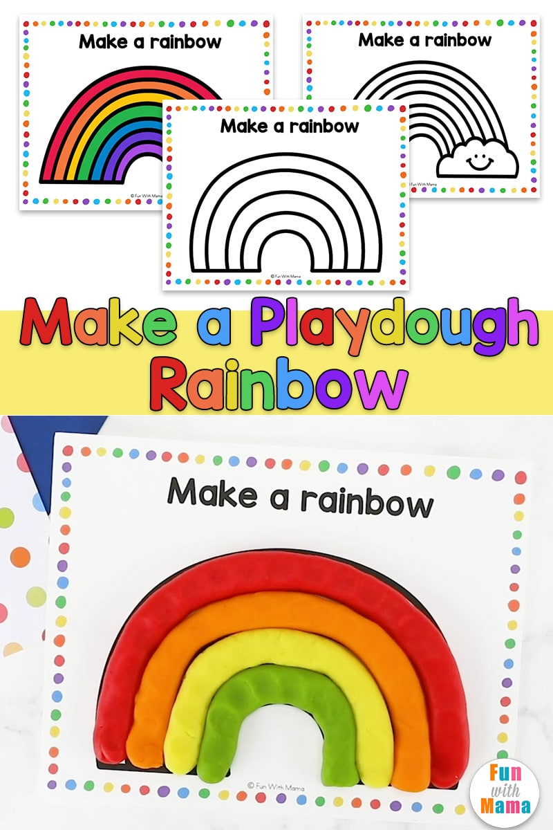 make a rainbow playdough