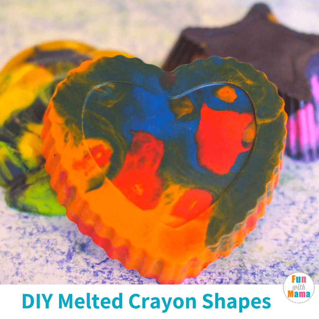 melted crayon shapes