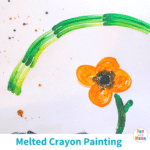 Melted Crayon Art – Painting Kids Craft