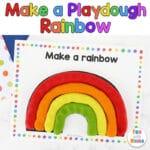 Make a Rainbow with Play Dough