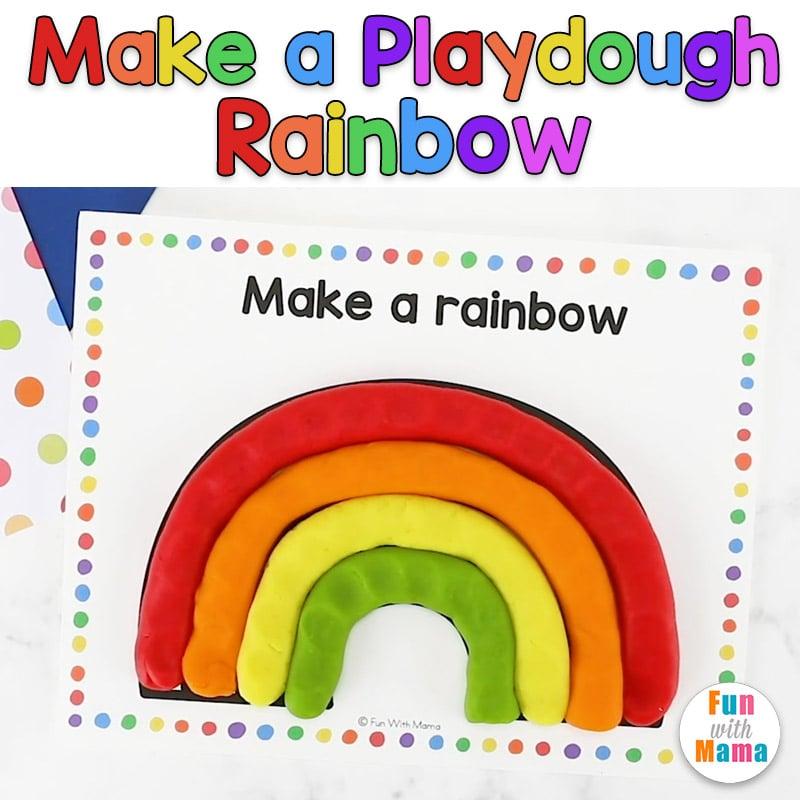 make a playdough rainbow