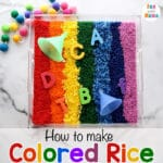How to make colored rice – Rainbow Rice