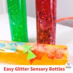 Super Simple Glitter Sensory Bottle Tutorial