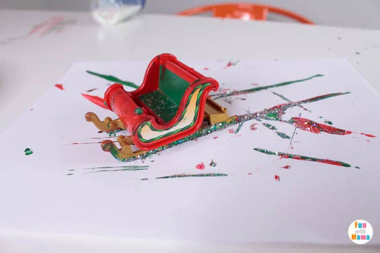 Christmas process art activity for kids