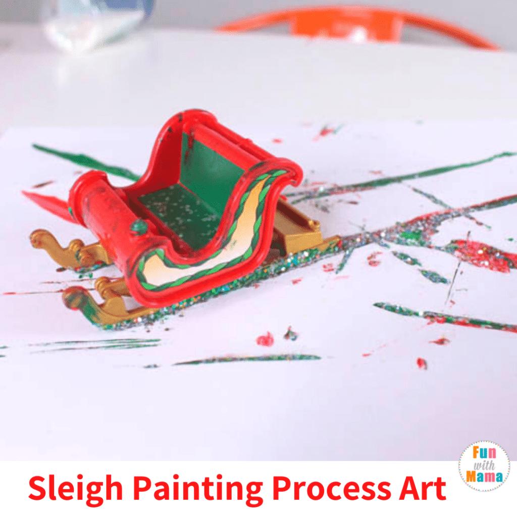sleigh painting process art