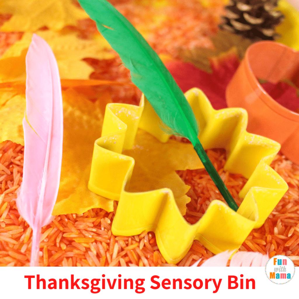 Thanksgiving sensory bin