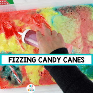 CANDY CANES BAKING SODA EXPERIMENT