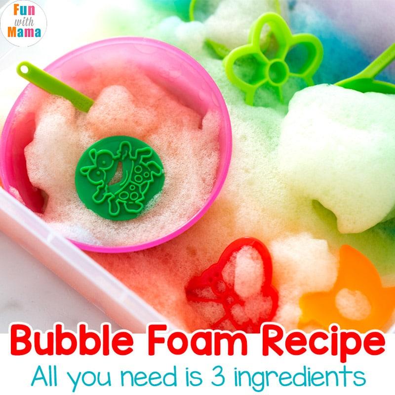 rainbow bubble foam recipe