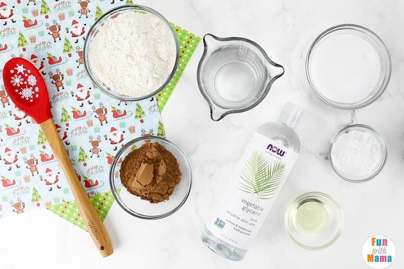 ingredients needed to make reindeer playdough
