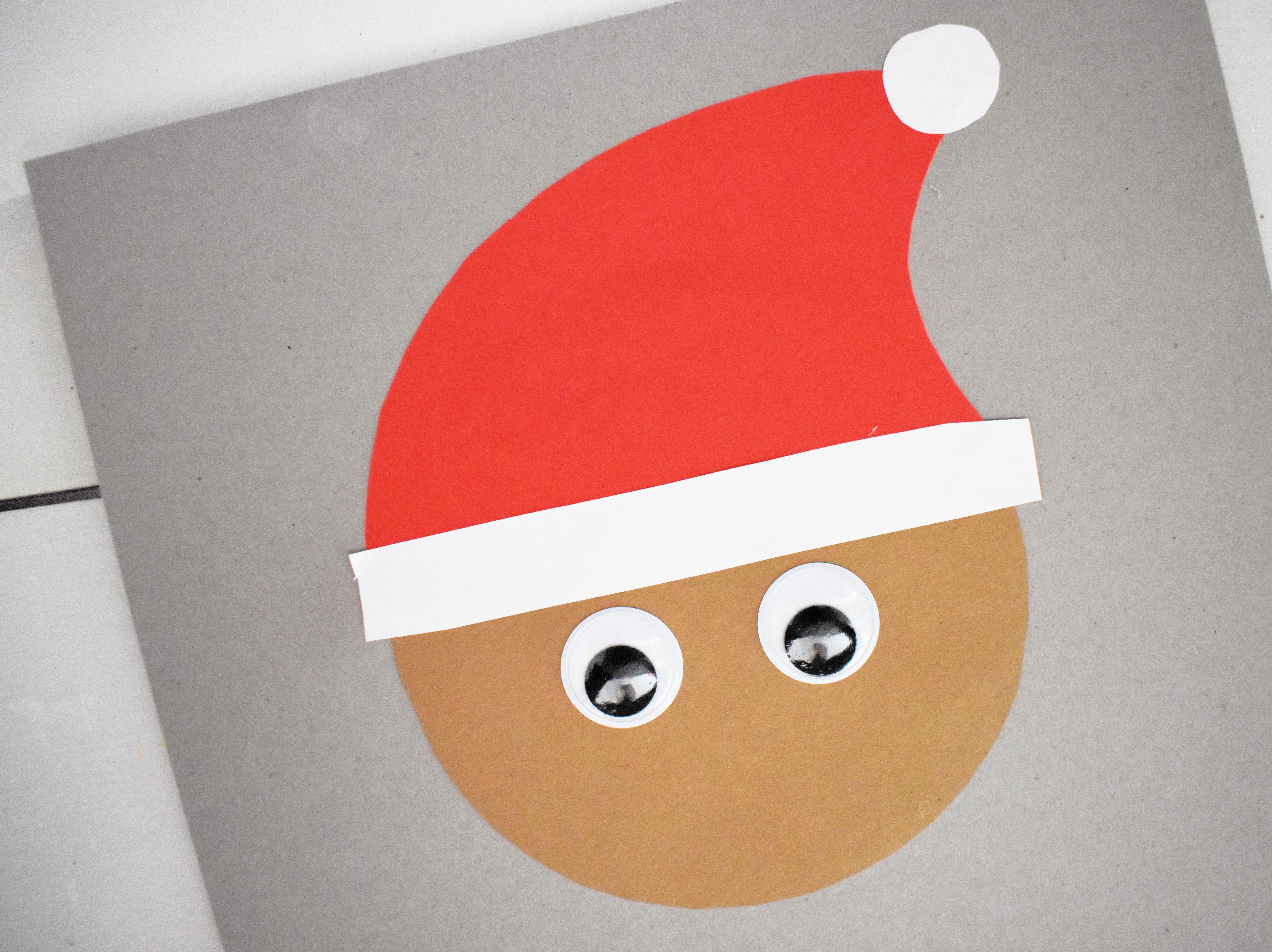 cut santas beard beard eyes glue