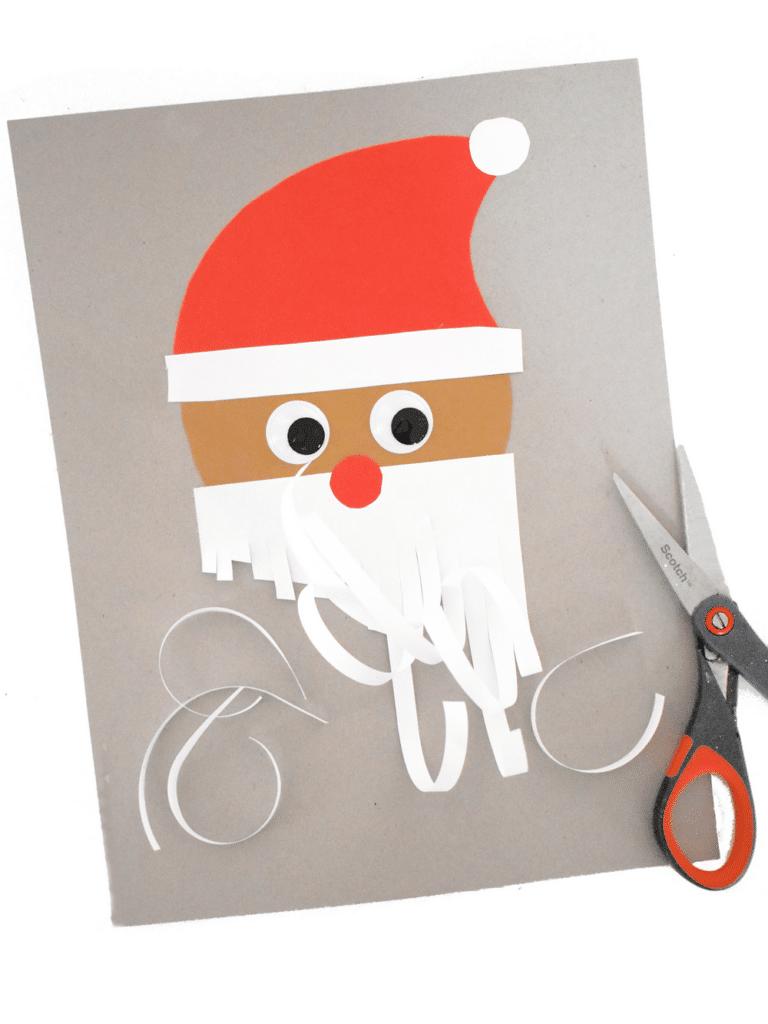 cut santas beard scissor craft