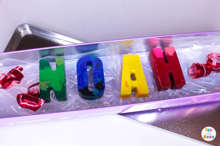 melted letter activity