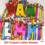 Easy DIY Crayon Letter Names – Fun Crayons Art