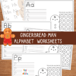 Gingerbread Tracing Letters Printable
