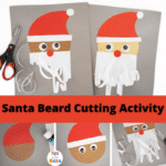 Santas Beard – Christmas Cutting Activity for Preschoolers