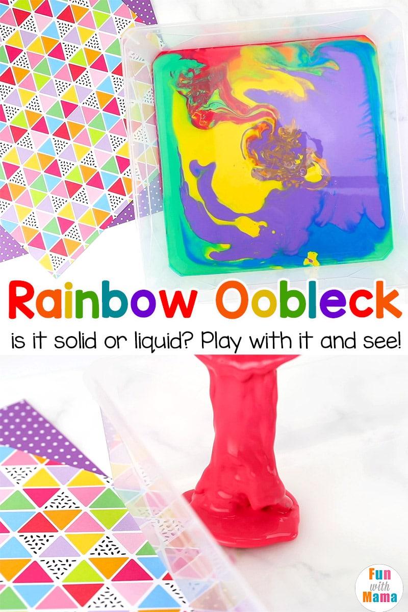 recipe for rainbow oobleck