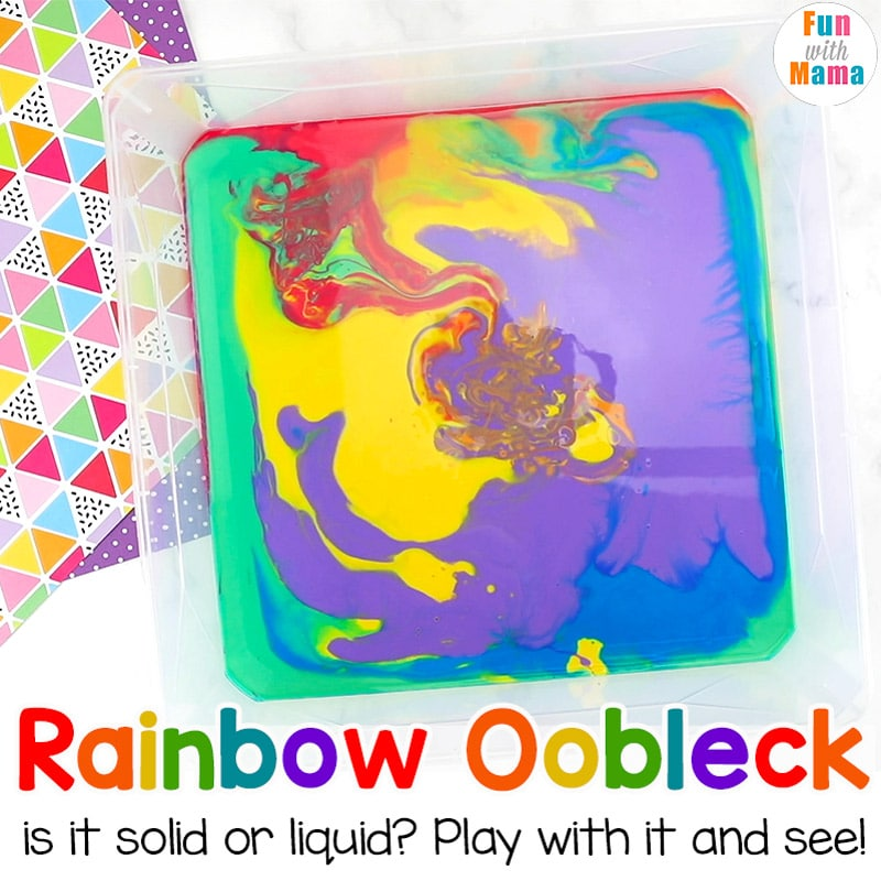 how to make rainbow oobleck