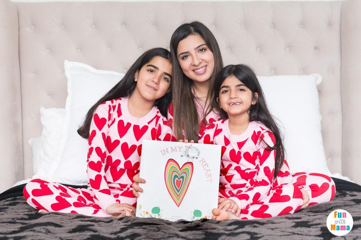 heart pjs for the family