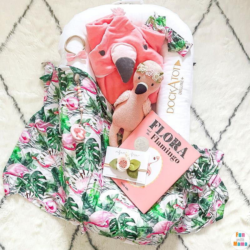Flamingo baby items