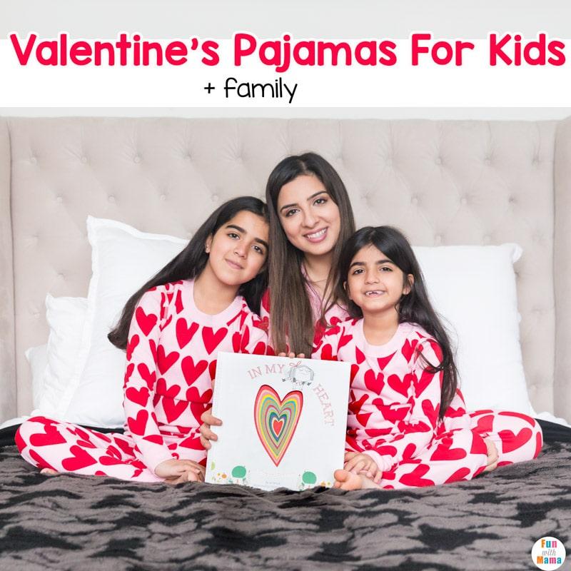 valentine's pajamas for the kids