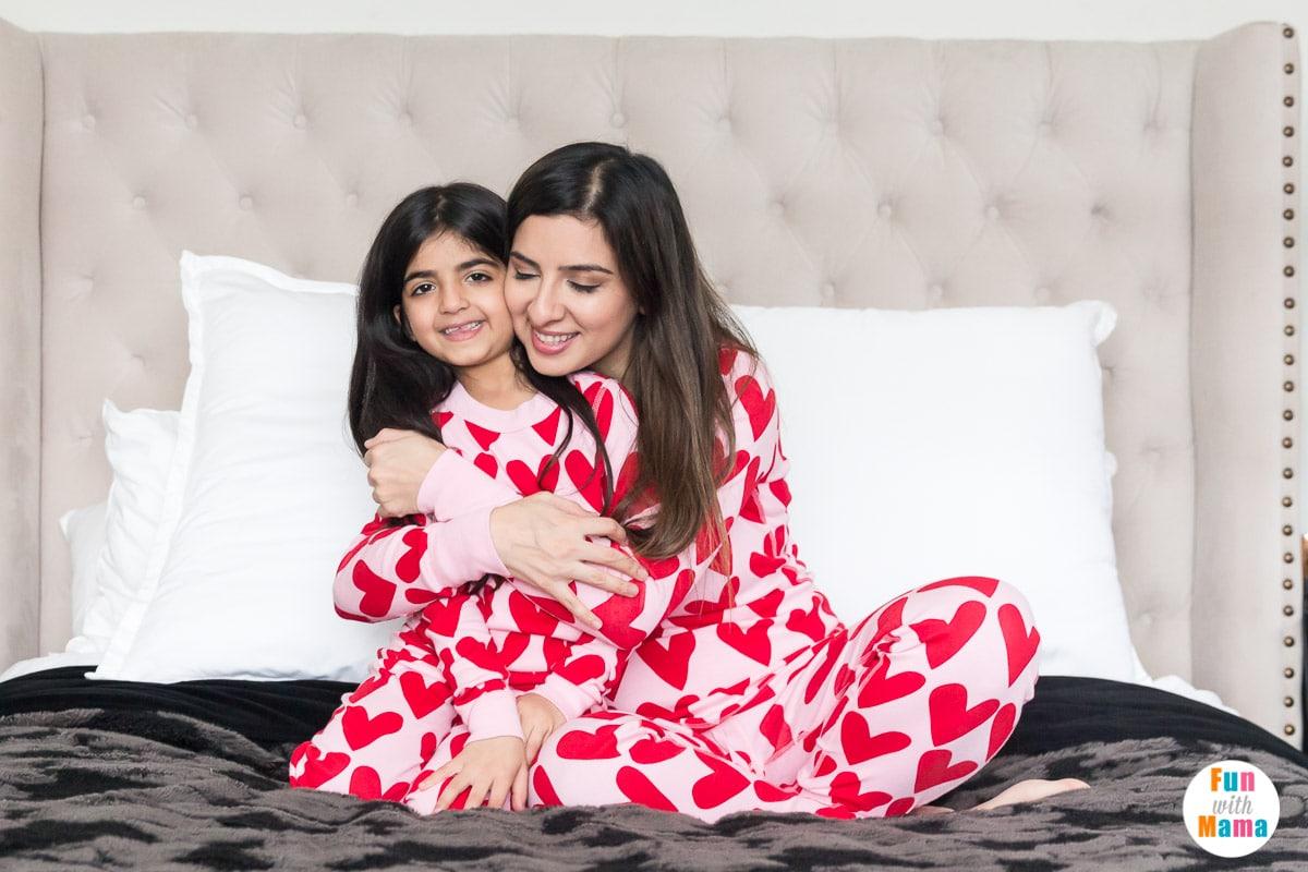 heart pajamas for the family