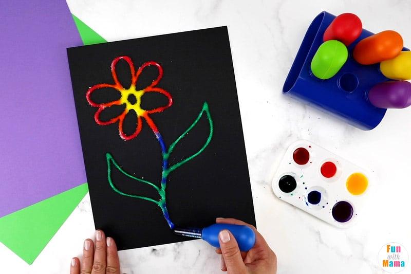 flower salt painting art