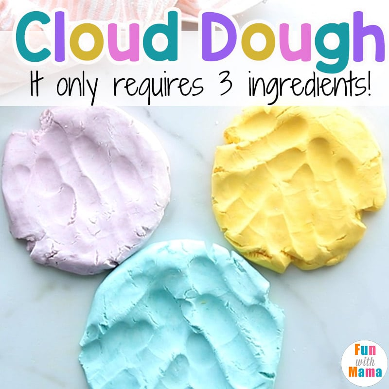 simple recipe for cloud dough