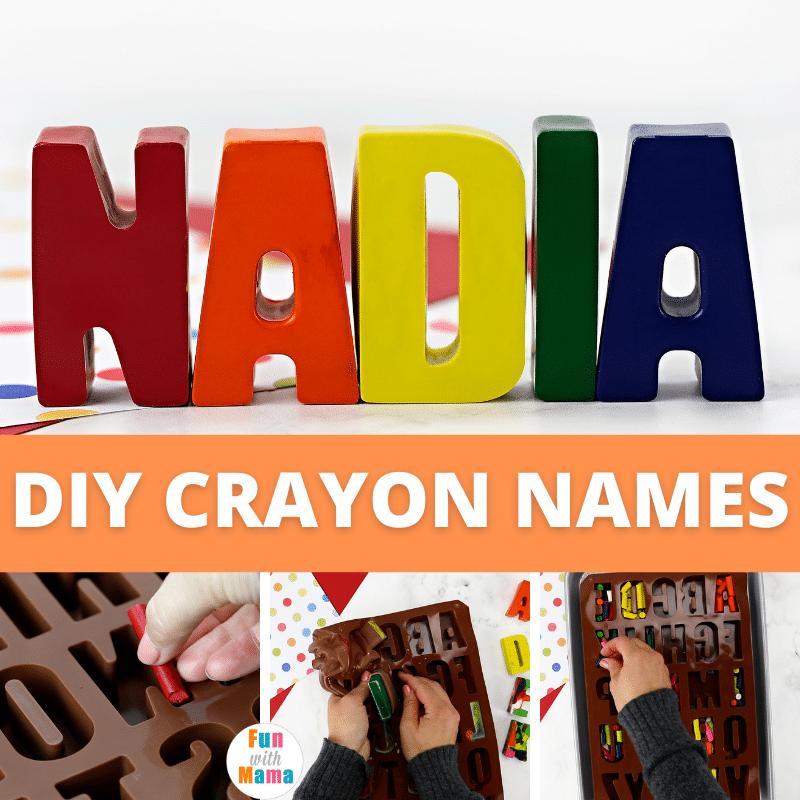 DIY crayon letters