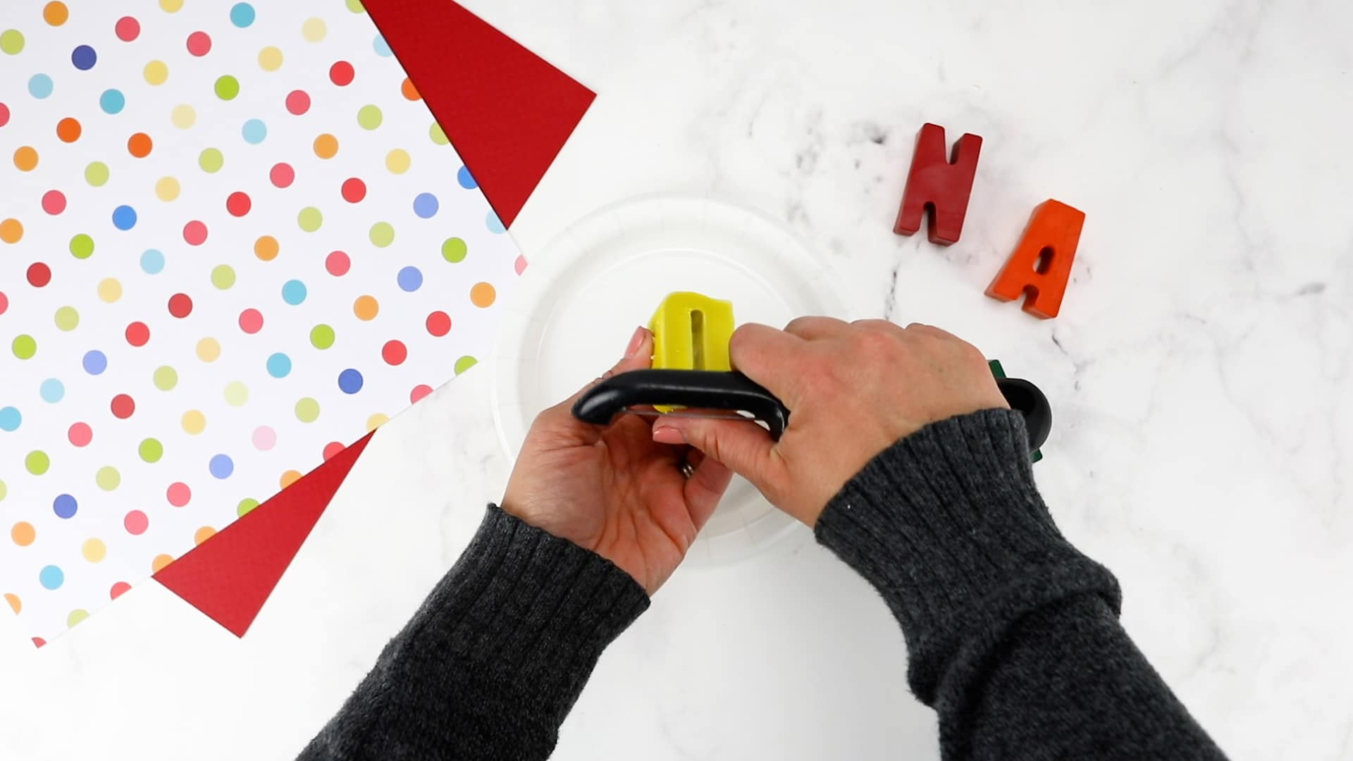 crayon name craft shaving down the letters