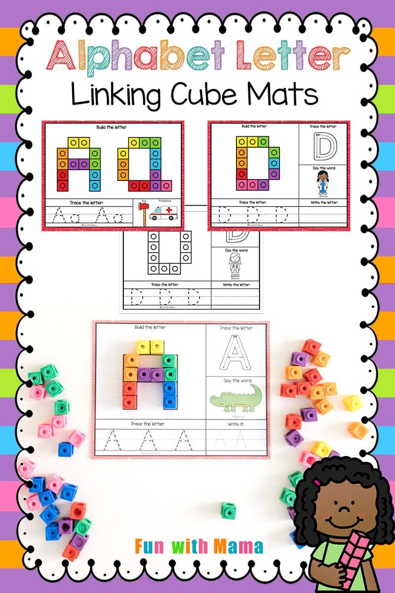 counting cute alphabet mats