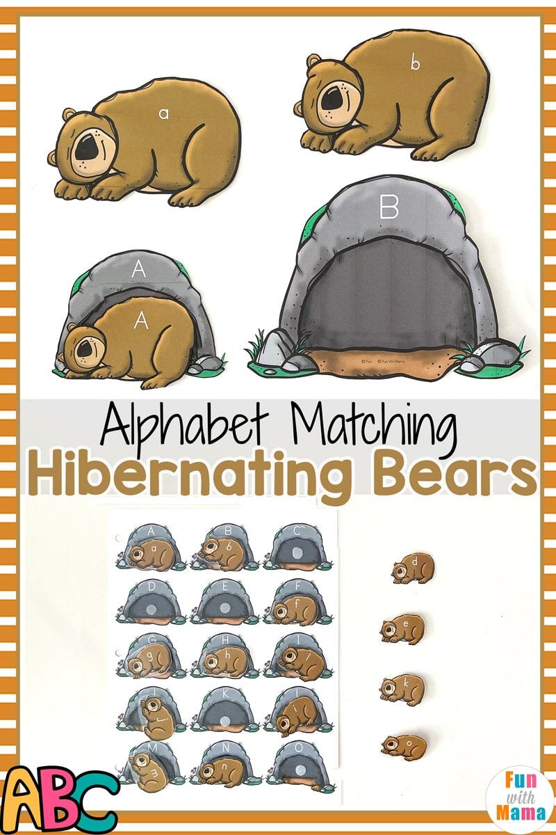 alphabet matching bears