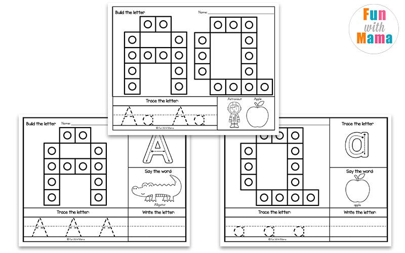 cubed alphabet mats