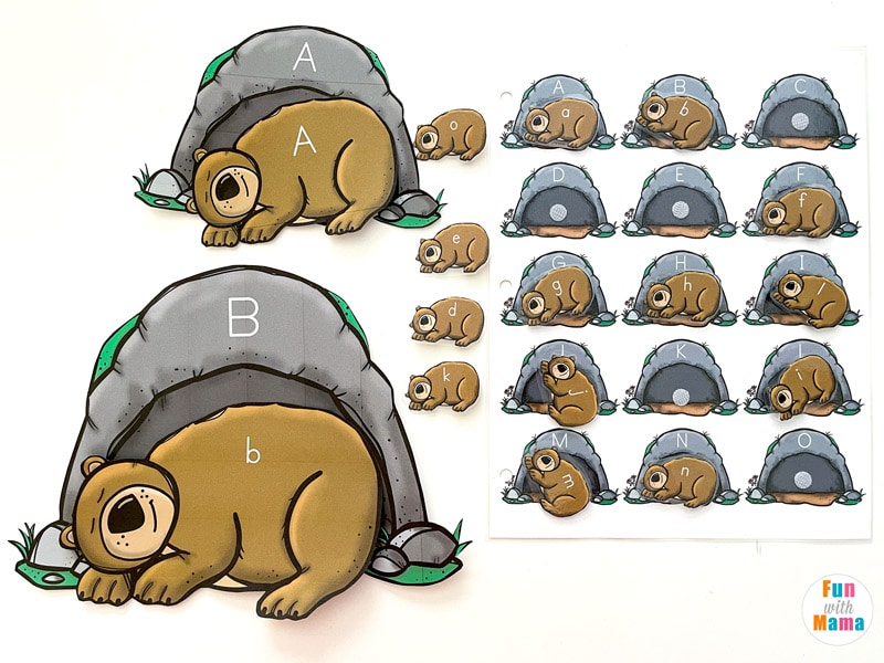 preschool alphabet letter matching activity