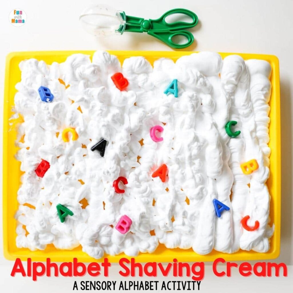 alphabet shaving cream activity